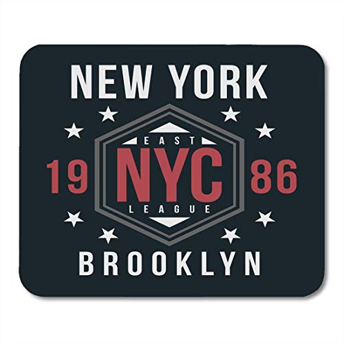 (Mouse Pads America City New York Brooklyn Vintage Badge for Varsity Style College American Mouse Pad 7.08 (L)x 8.66 (W) inch for Notebooks,Desktop Computers Mouse Mats, Office Supplies)