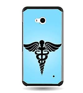 Fiobs Designer Back Case Cover for Microsoft Lumia 640 LTE (Ambulence Symbol Blue)