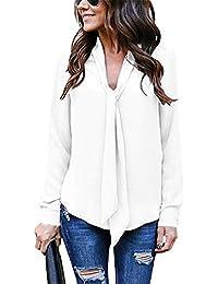 Amazon Blusas Camisas Pajarita Camisetas es Tops Y La twRwr6