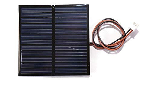 Electronicspices 6V 100MA MINI SOLAR PANEL wire attached with solar for DIY Square shape (70x70x3 mm)