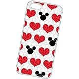 iDress Disney Rhinestone iPhone 5 Case (Mickey Mouse/Heart) (japan import)
