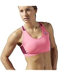 Reebok Wor Sl Ms Bra - Sujetador deportivo para mujer, color rosa, talla S