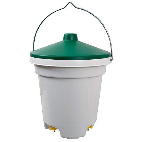 Geflügeltränke 12 Liter mit Tränkenippeln und Aufhängung, Geflügel-Tränkeeimer