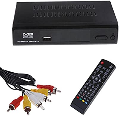 Decodificador Digital Terrestre Audio MPEG4 DVB-T2 Resolución Full HD 1080 receptor HDMI RCA USB