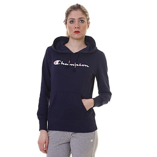 Champion Sweatshirt Geschlossene Frauen HOODED SWEATSHIRT Spezielle Ultra Light Frühling Terry Solid Farben gr.240 Melange (Blue Navy Melange BLI),L Hooded Terry Pullover