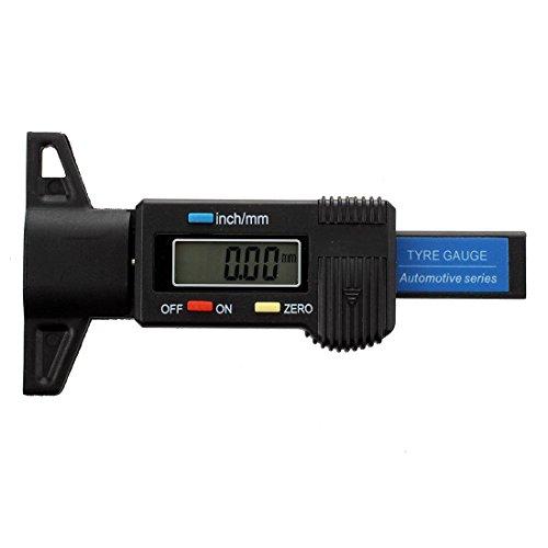 SODIAL(R) Jauge de profondeur numerique Caliper jauge de profondeur de bande de roulement LCD Jauge de la bande de roulement du pneu