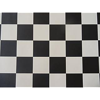 PVC in Schachbrett-Optik, schwarz-weiß - von Alpha-Tex 9.95€/m² (Länge: 150 cm, Breite: 200cm)