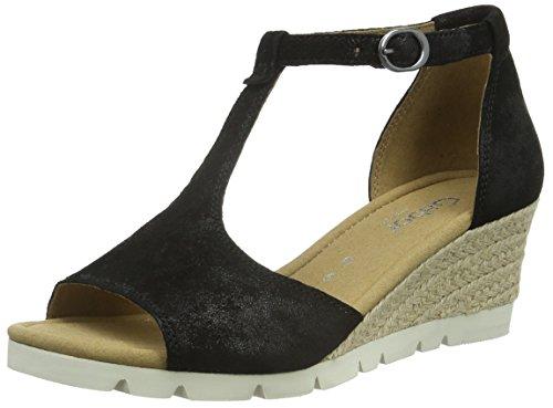 Gabor Shoes 42.842 Damen T-Spangen Sandalen, Schwarz (97 schwarz), 40.5 EU