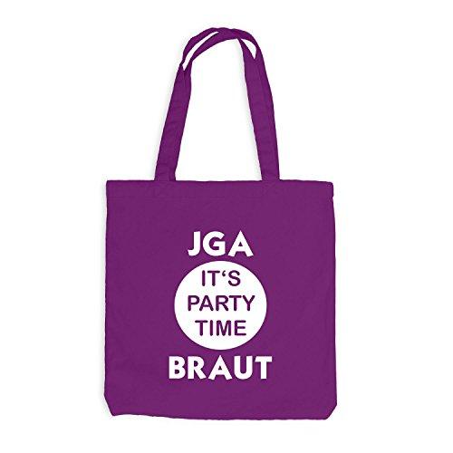 Time Style Junggesellenabschied Jutebeutel Its BRAUT Magenta Party JGA wYIFrFaqfx