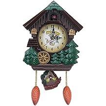 Reloj de Pared silencioso de la Vendimia, Forma de la casa 8 Pulgadas Reloj de