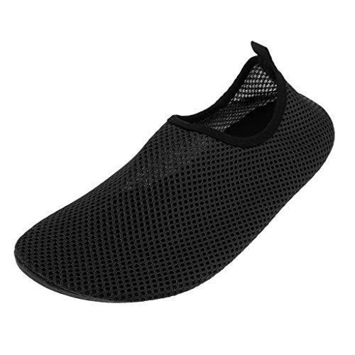Homyl Damen Herren Schwimmschuhe Schnell Trocknend Schuhe Neoprenschuhe Strandschuhe Aquaschuhe Badeschuhe Wasserschuhe Surfschuhe für Schwimmen Yoga Surfen - Schwarz, XXXL