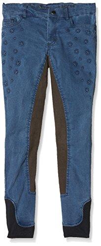 Bibi & Tina Kinder Jeans-Reithose-Girls vs. Boys Stars, Jeansblau, 140 -