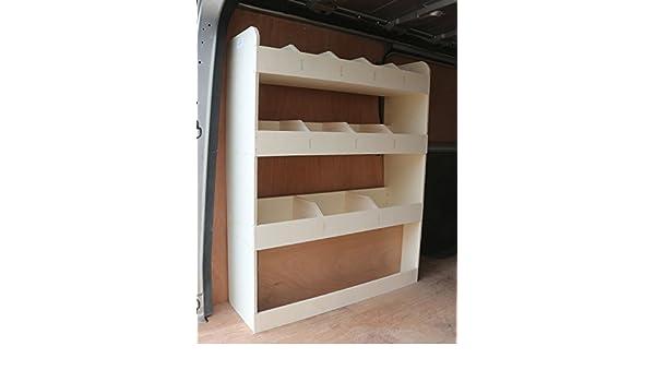 Tool Rack Racking Storage System Trafic LWB 2015-2019 NS Rear Lightweight Plywood Van Shelving