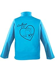 PFIFF Kinder-Fleecejacke mit Motiv, blau, S