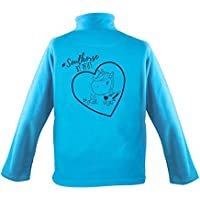 PFIFF Kinder-Fleecejacke mit Motiv, hellblau, XL
