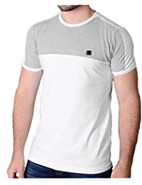 Mens Voi T Shirt Short Sleeve Designer T-Shirts 'Sails' White