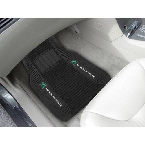 Michigan State Spartans NCAA Deluxe 2-teilig Vinyl Car Mats (20x 27) (Shorts Deluxe Fußball)
