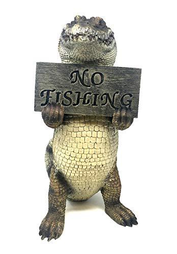 Figura Decorativa cocodrilo Estatua Estanque jardín