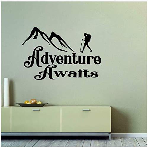 Abenteuer warten auf applique camping stiefel trail schlafsack artist living PVC wandaufkleber 65x43cm