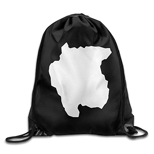 37f5837894 cleaer Suriname Map Silhouette White Gym Drawstring Backpack Unisex  Portable Sack Bag 14 X 16.5 inch