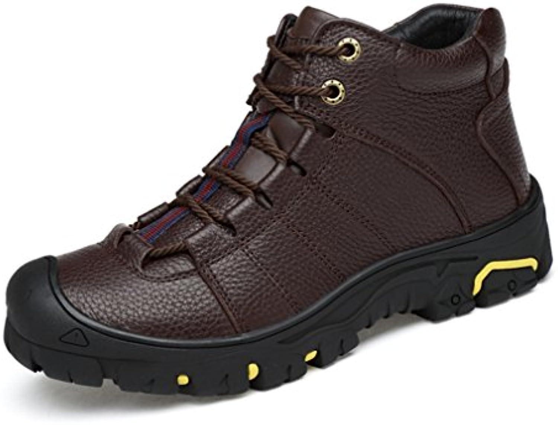 XI-GUA - Zapatillas de senderismo de Piel para hombre  -