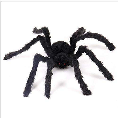 Wovemster Black Spider Halloween Dekoration 2019 Neu Ordentliches Spielzeug Plüschtier Simulation Spinne Spukhaus Requisiten Für Party, Karneval, Halloween (Beste 2019 Halloween-dekoration)