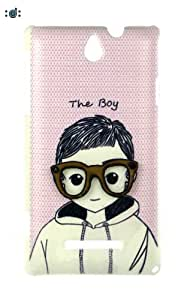 Dressmyphone Sony Xperia E C1504 'The Boy' Designer Back Cover - Beige