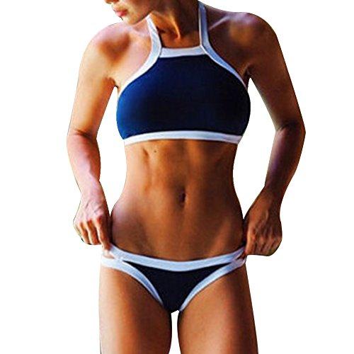 Kidslove Sexy Bikini Damen Push up Bikini Set Damen Bandeau sexy Bademode Badeanzug Schwimmanzug Sport Bikini