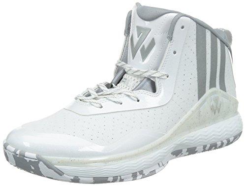 adidas J Wall, Scarpe Basket uomo blu scuro blu / rosso, bianco (bianco), 42