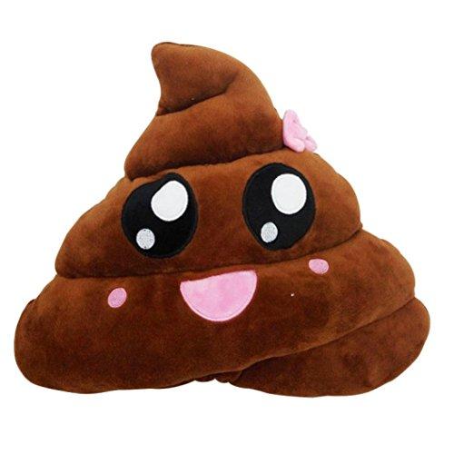 FEITONG Emoticon divertido Emoji Cojín en forma de corazón Ojos Poo Regalo Throw almohada muñeca de juguete