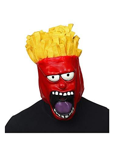 Pommes Kostüm - WIDMANN 03309 Ganzkopf Maske Pommes Gesicht,