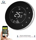Qiumi Termostato WiFi inteligente controlador de temperatura para calefacción por suelo radiante eléctrico funciona con Amazon Alexa, Google Home IFTTT 16A