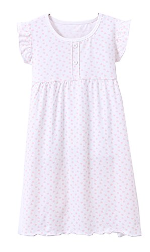 Niñas Princesa Nighties Heart Print Camisones Cotton