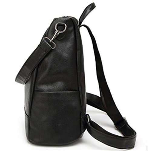 Schulterbeutel-Rucksackbeutel große Kapazität multifunktionale Handtasche Black