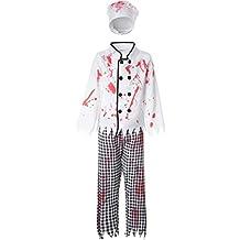 dressforfun 900431 - Costume Bambino Ragazzo da Spaventoso Cuoco in Bianco e  Nero (152  f9d5072a93a1