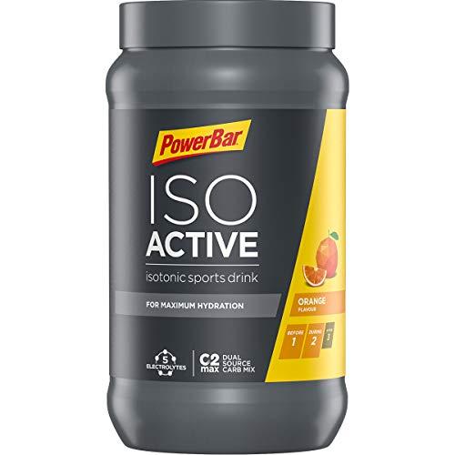 PowerBar Isoactive Isotonisches Sportgetränk (5 Elektrolyte und C2max Dual Source Carb Mix) - Orange (1 x 600g)