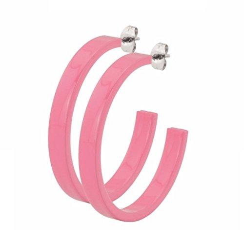 eeddoo Ohrringe Frauen Groß Pink Edelstahl