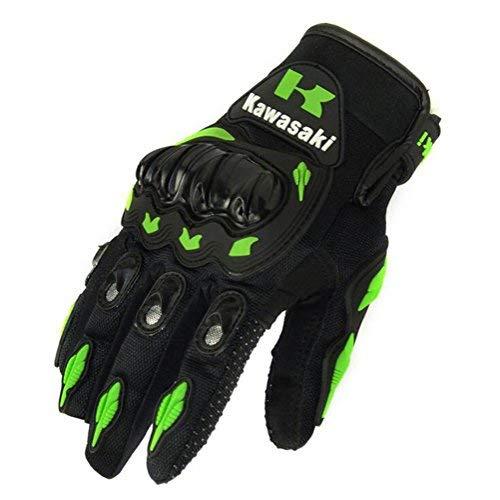 Kawasaki ? Motorrad-Handschuhe, für den Sommer, mit stoßfesten Protektoren, aus Nylon und Polyester, Größe: L
