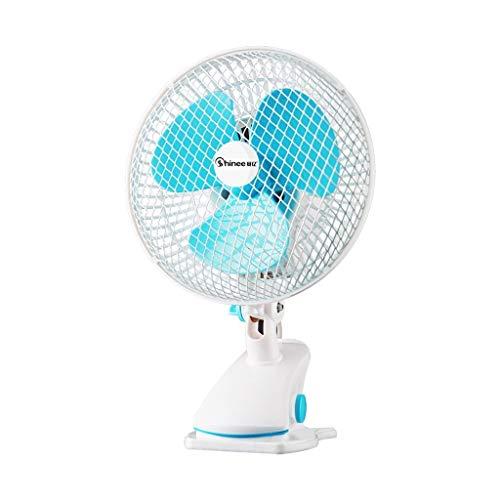 MU Home Wohnzimmer Schlafzimmer Fan-Fan 7-Zoll-Tisch, automatische Kopfschütteln Silent Mini Schreibtisch-Clip für Desktop Student Home, Schlafsaal, Büro und Schreibtisch (2-Speed) - 2 Speed Schreibtisch