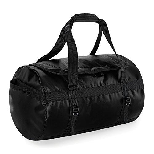 BagBase Reisetasche von Tarp 53x33x33cm 50L Duffle-Feiertags-Taschen Black