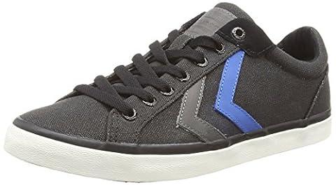 Hummel Deuce Court Waxed Canvas Unisex-Erwachsene Sneaker, Schwarz (Black), (Hi Calzature Da Ginnastica)