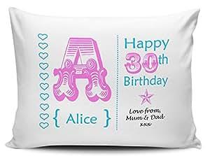 Name &personalisierter Nachricht, zum 30. Geburtstag, Rosa