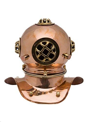 Taucherhelm Kupfer 20cm Maritim Taucherglocke diving helmet Helm antik Stil