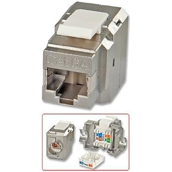 "Lindy Mini module ""Keystone"" RJ45 STP cat.6A 10Go, Premium"