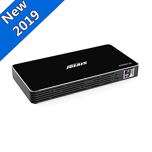 JOEAIS Mini Beamer, Mini Projektor Tragbarer Android 7.1 DLP Videoprojektor Unterstützung 1080P, Kompatibel mit USB TF-Karte für Heimkino / Laptop / Smartphone