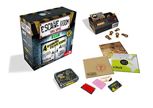 Noris Spiele 606101546 Escape Room Inkl. 4 Fällen und Chrono Decoder - 3