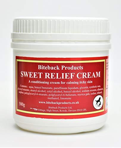 Biteback Products 'Sweet Relief' TM Crema calmante para picazón de perros 500g