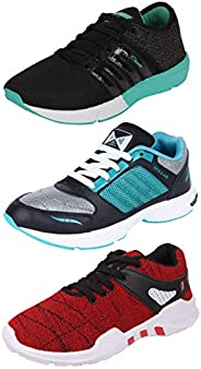 Chevit Men's Combo Pack of 3 Sports Shoes (Running, Gym, Walking Sh