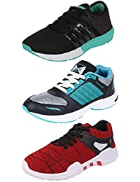 Chevit Men's Combo Pack of 3 Sports Shoes (Running, Gym, Walking Shoes)