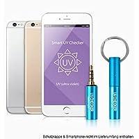 Smart UV Checker UV-Messgerät UV-Tester Messer Meter UVA/UVB Sonnenstrahlung Solarium Sonnenstudio iOS Android iPhone SMU-FBA